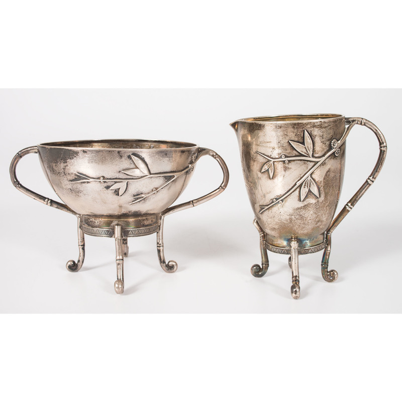 A Tiffany & Co. Japanesque Sterling Creamer and Sugar