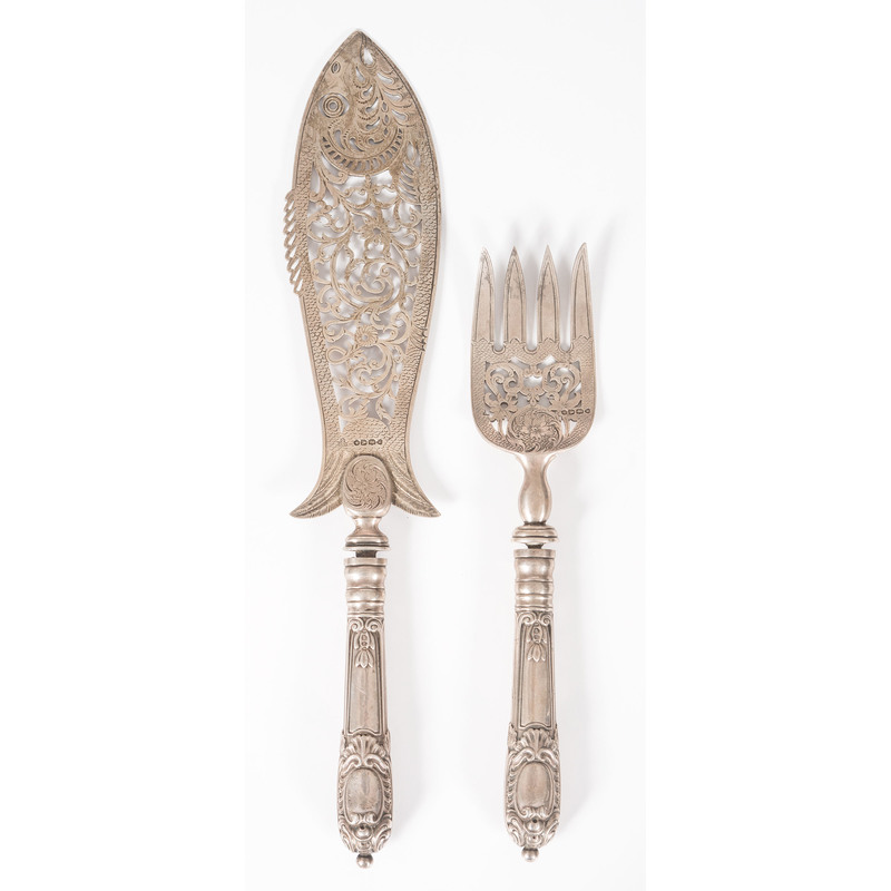 A Pair of Victorian Silver Fish Servers