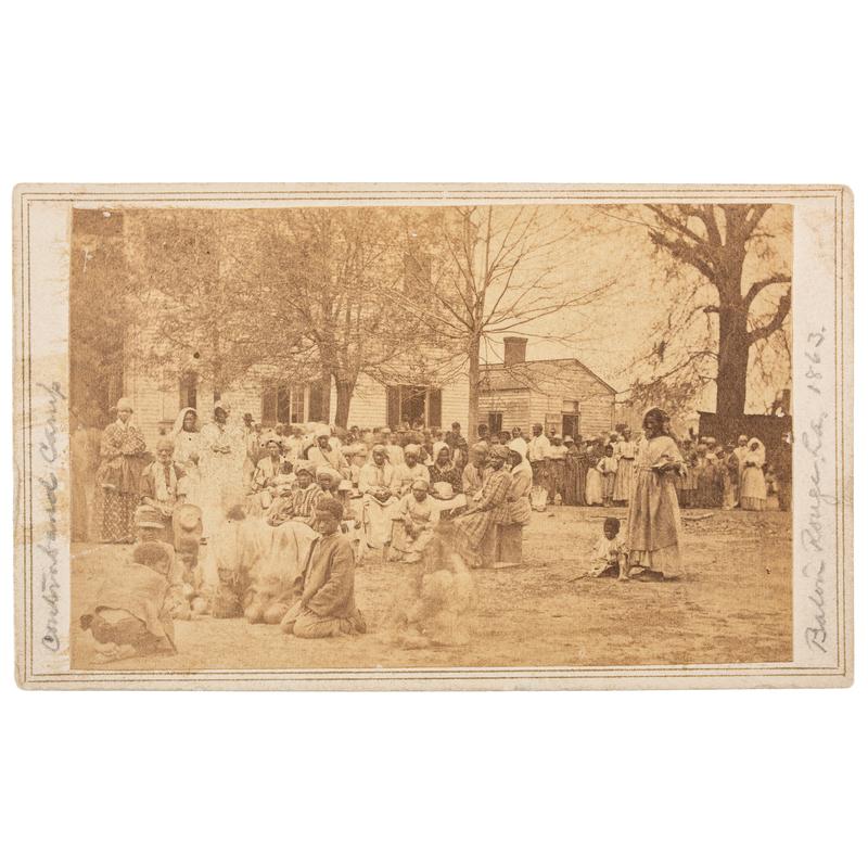 CDV of Contraband Camp at Baton Rouge, 1863