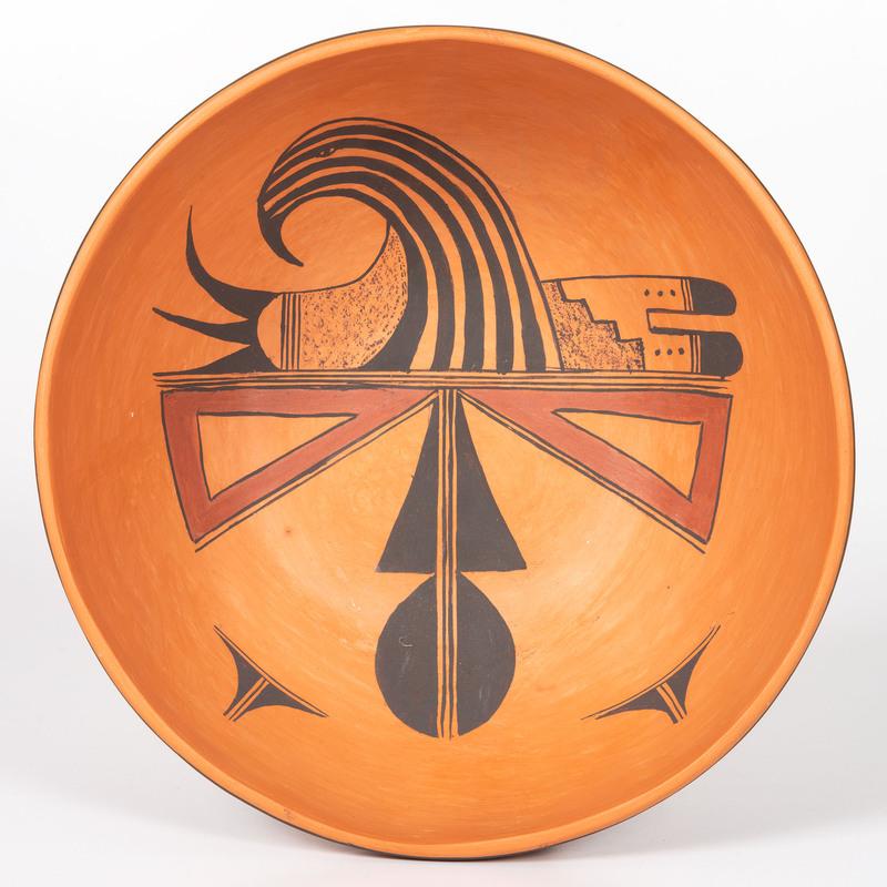 Treva James Burton (Hopi, b. 1929) Pottery Bowl