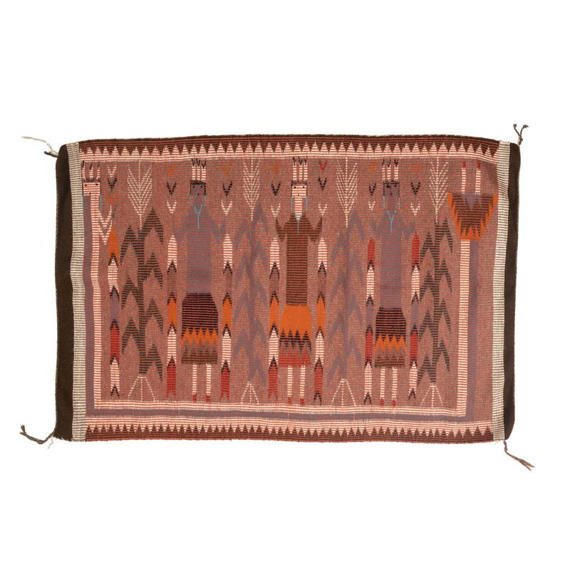 Navajo Twill Yei Weaving / Rug