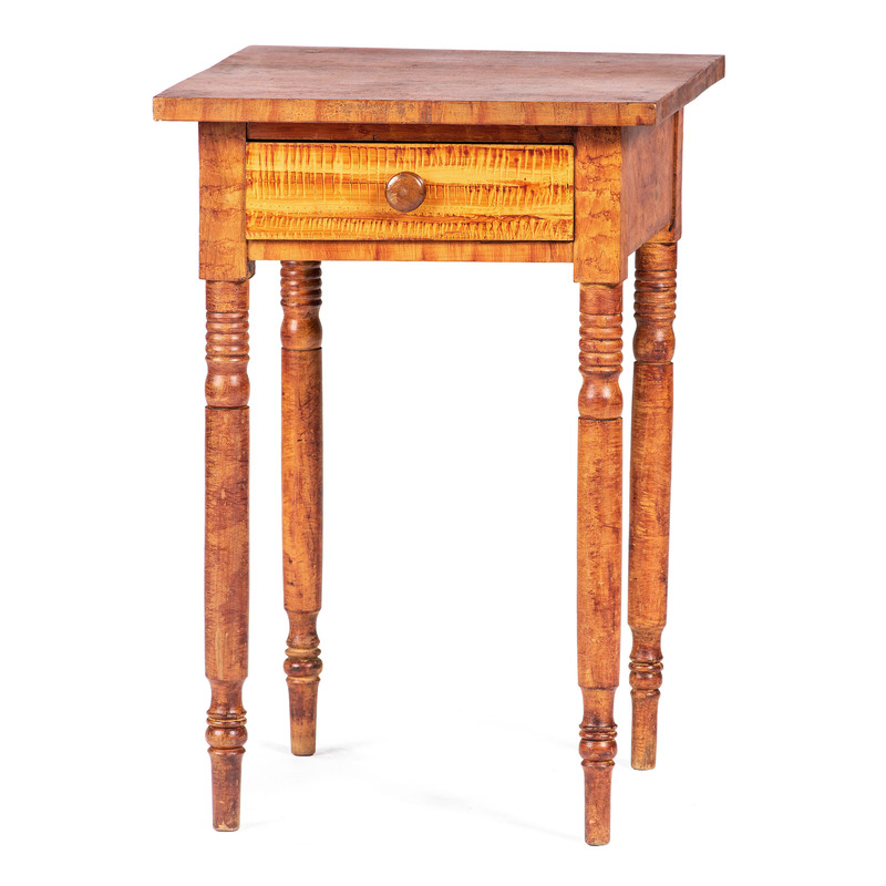 A Vinegar Painted Pine One Drawer Stand
