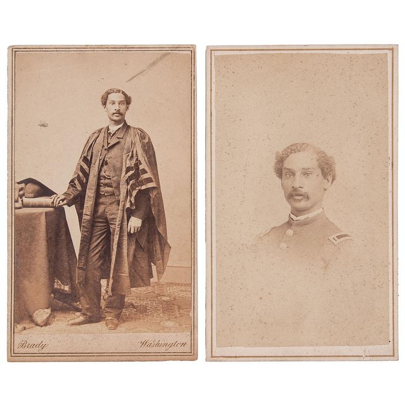 Anderson Ruffin Abbott Pair of CDVs, Incl. Brady, circa 1863-1865