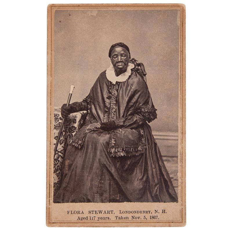 Flora Stewart...Aged 117 Years CDV Portrait, 1867
