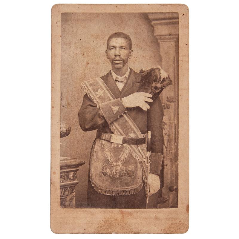 CDV of an African American Freemason by George Schuwirth, Austin, Texas