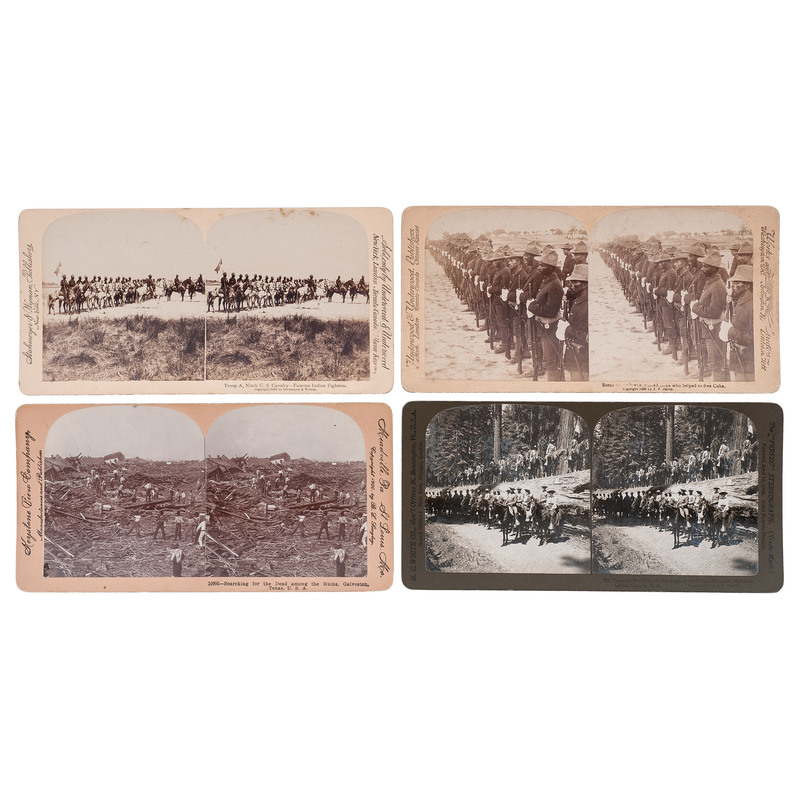 Buffalo Soldier Stereoviews, circa 1899-1900