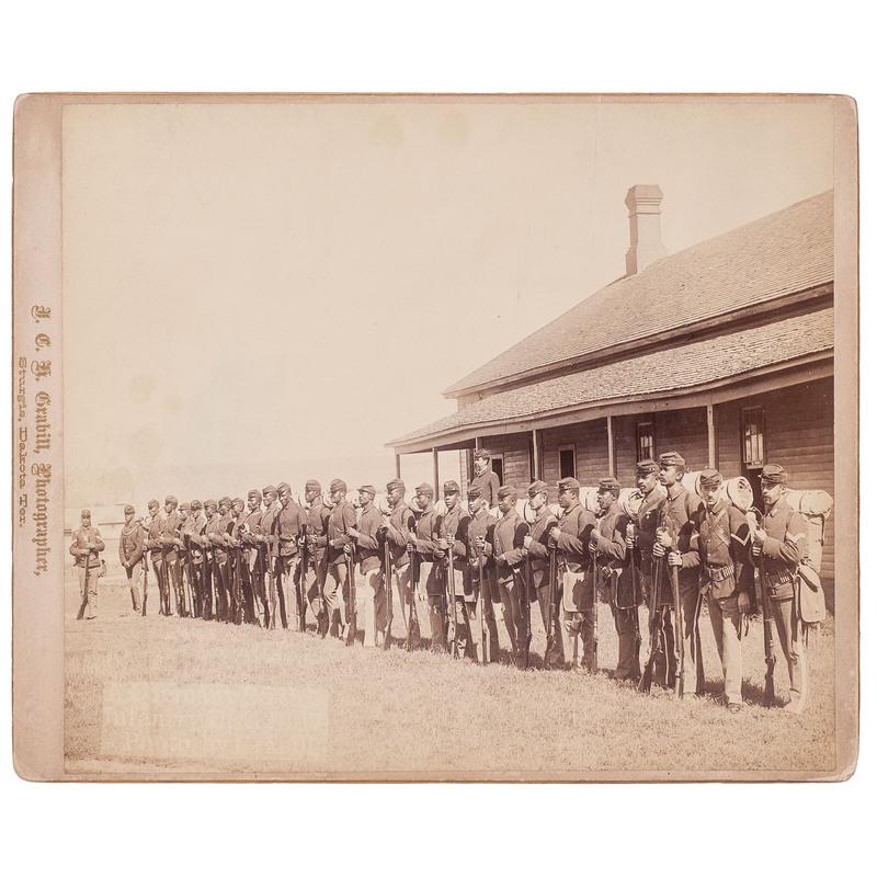 25th Infantry, Company A,  Grabill Oversize Photograph, Sturgis, Dakota Territory, circa 1887