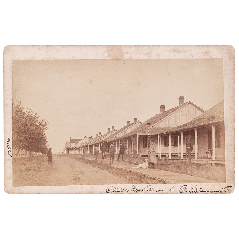 Officer's Quarters at Ft. Robinson, Neb. Boudoir Card, circa 1887
