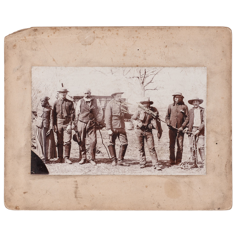 Scouts Capturing Boomers Large Format Photograph, Purcell, Oklahoma Territory, circa 1883-1885