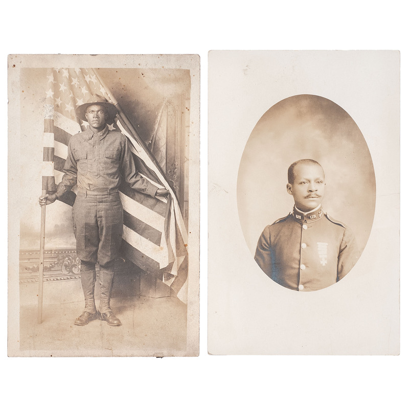 Charlie Smart, Tenth Cavalry Real Photo Postcard, Plus
