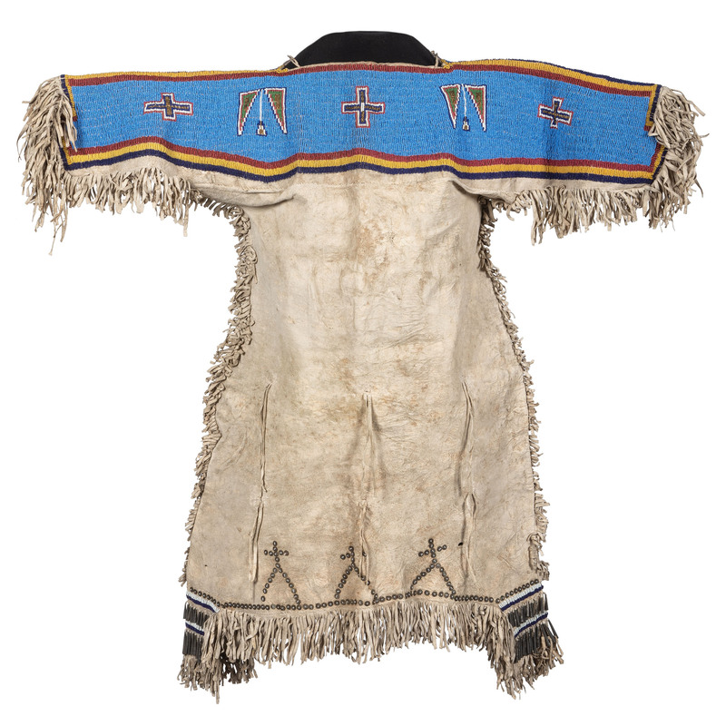 Sioux Girl's Beaded Hide Dress, From the Collection of Robert Jerich, Illinois