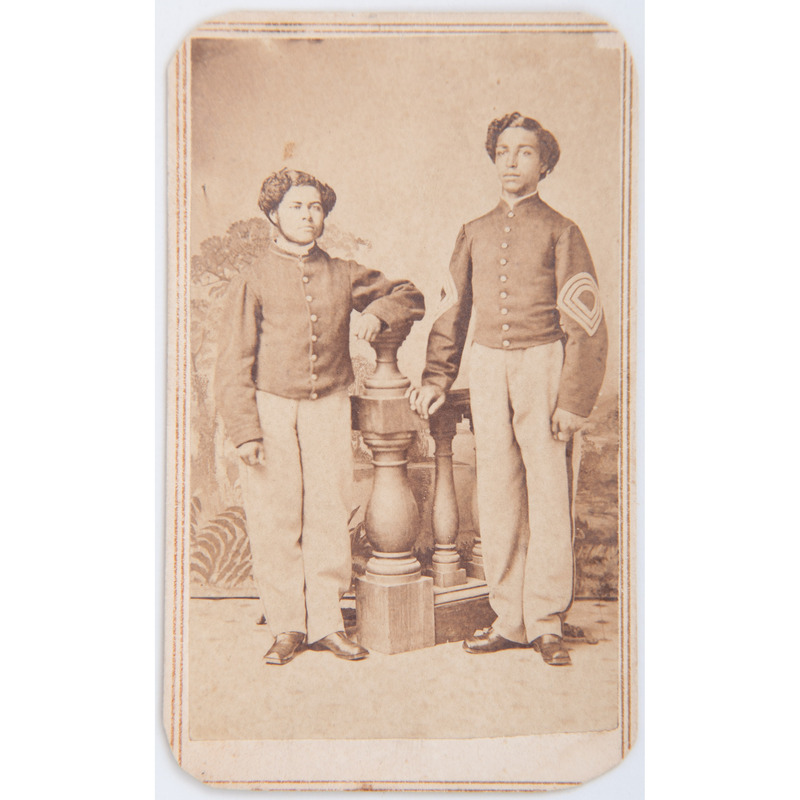 Civil War CDV of African American Soldiers Thomas Pennington and William L. Henderson, 20th USCT,