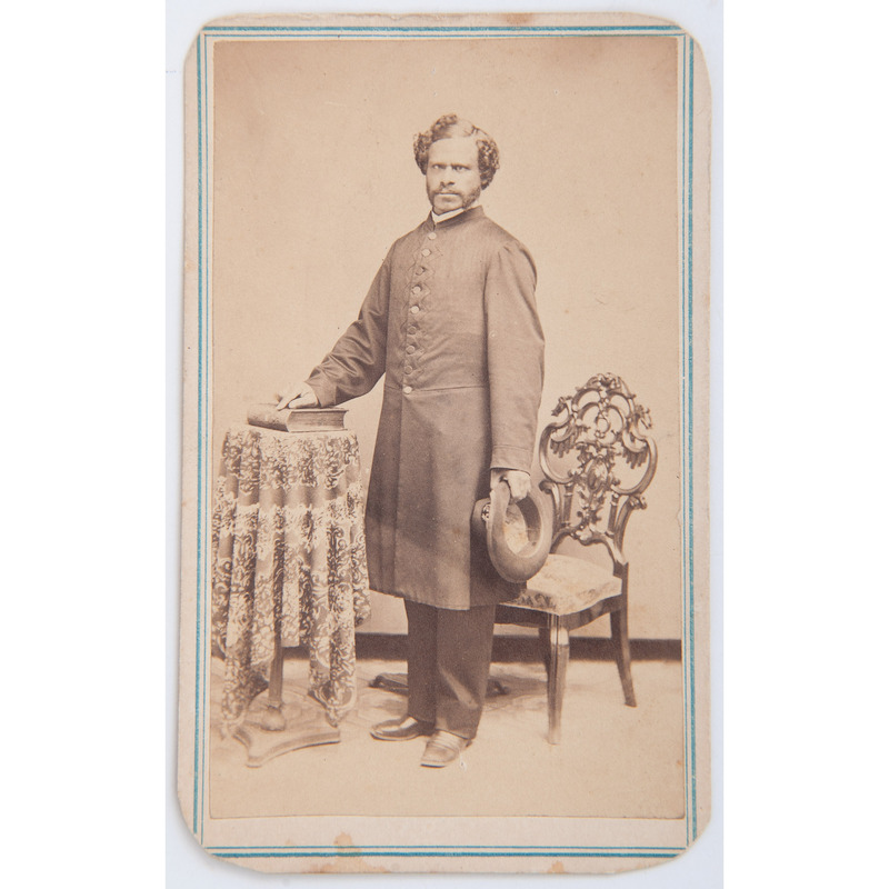 Signed CDV of African American Chaplain George W. LeVere, 20th US Colored Troops