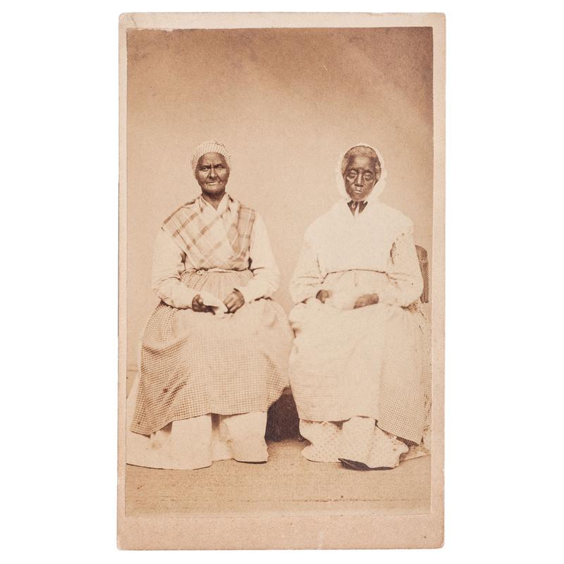 Dual Portrait of African American Women, CDV, West Chester, Pennsylvania, circa 1868