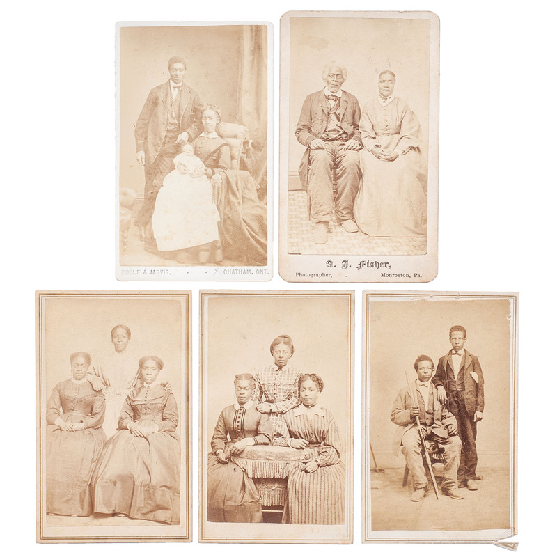 CDV Group Portraits of African Americans, circa 1865
