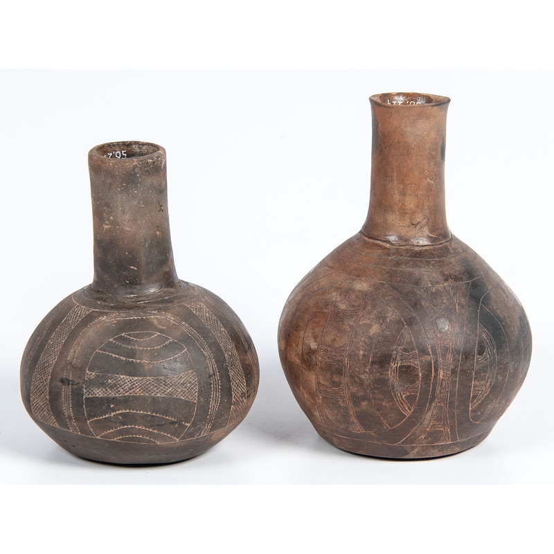 Caddo Incised Pottery Vessels