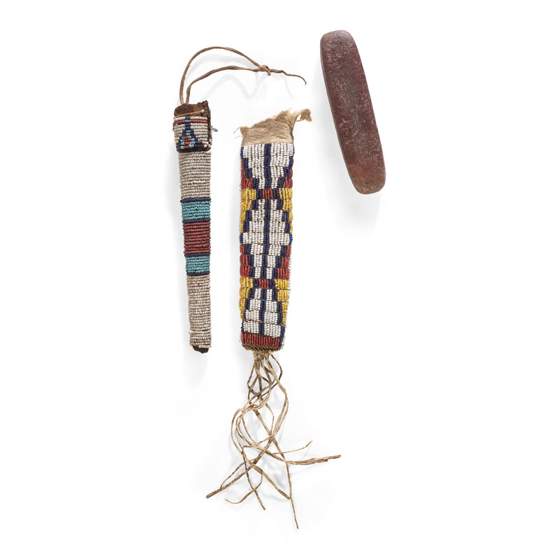 Cheyenne Awl Case And Sioux Whetstone Case, From the Collection of Robert Jerich, Illinois