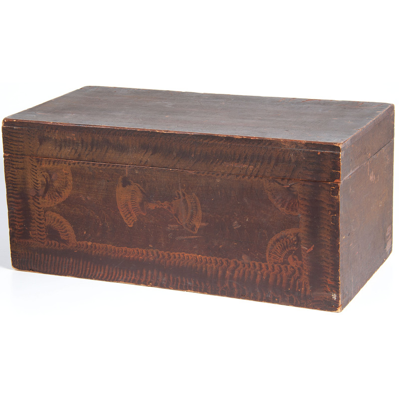 A Combed Paint Decorated Box