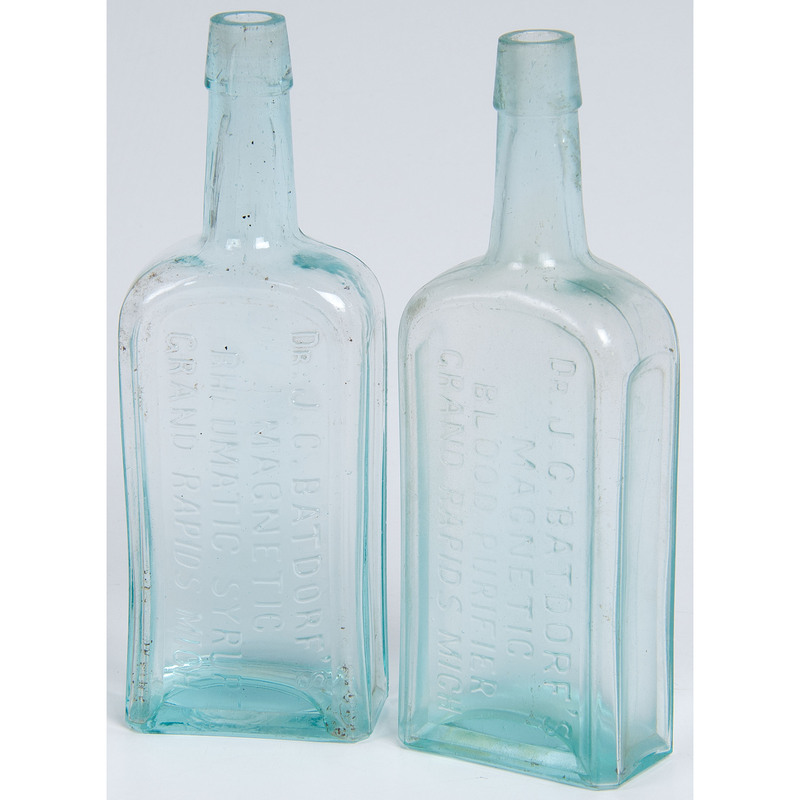 Two Mold Blown Grand Rapids, Michigan Patent Medicine Bottles