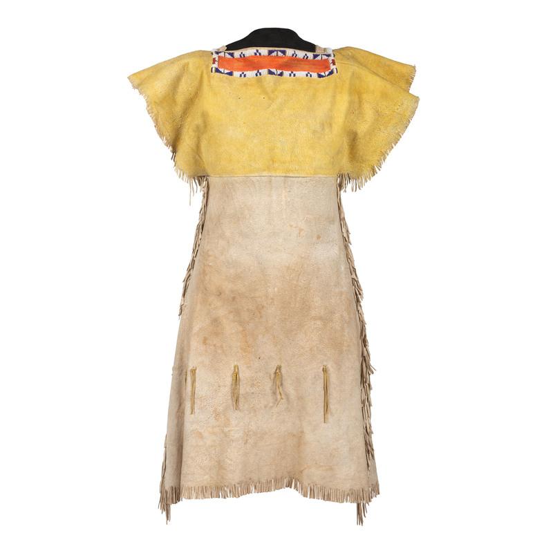 Southern Plains Girl's Beaded Hide Dress