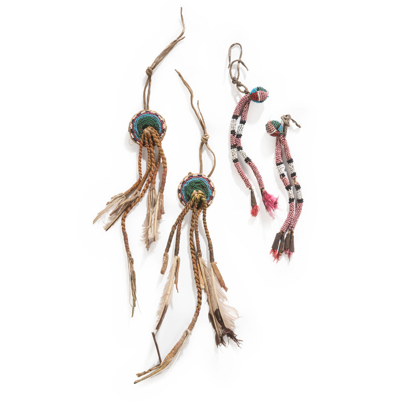 Comanche Buffalo Hair Ornaments, From the Collection of Robert P. Jerich, Illinois