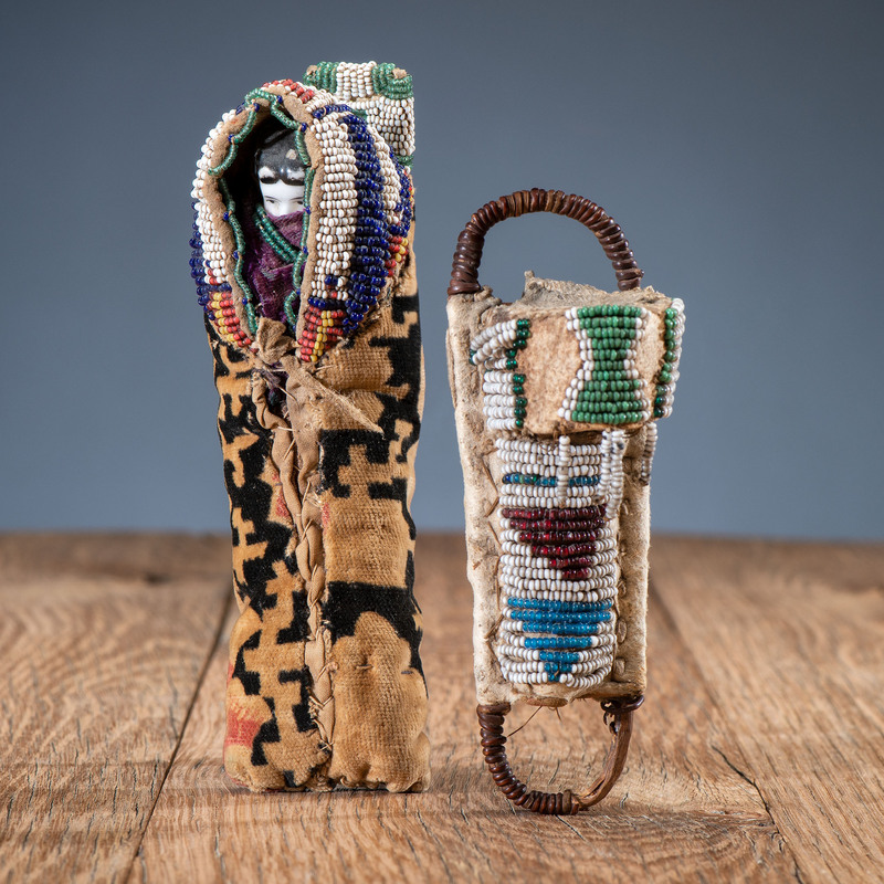 Apache and Cheyenne Child's Toy Cradles, From the Collection of Robert P. Jerich, Illinois