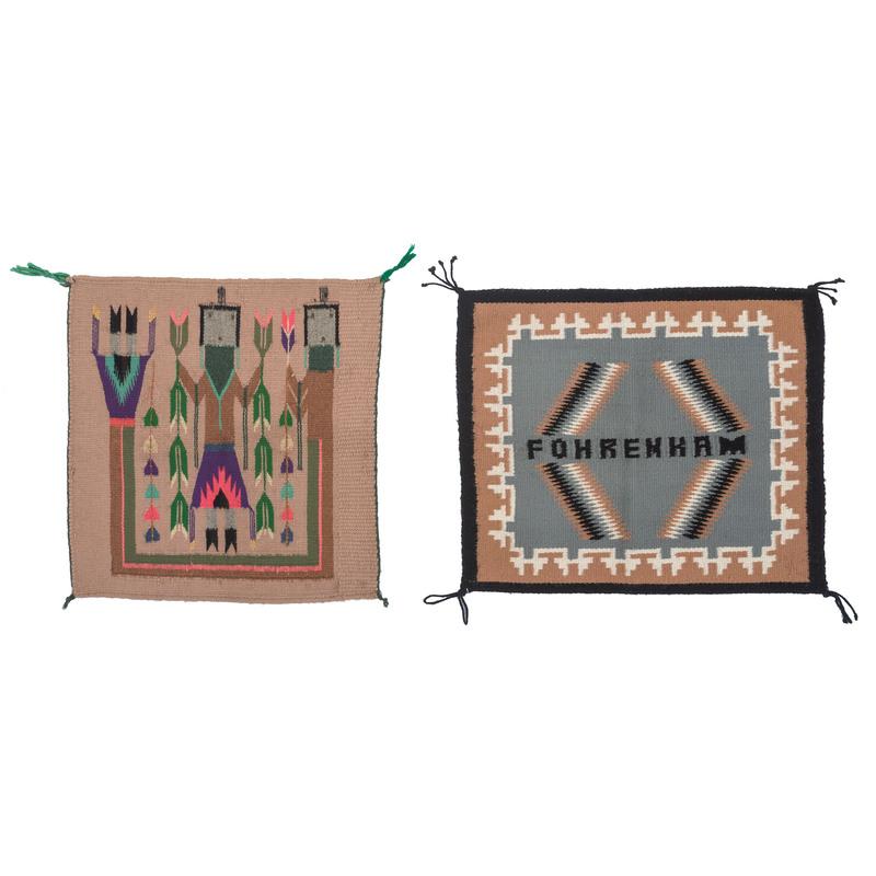 Pair of Navajo Sampler Weavings