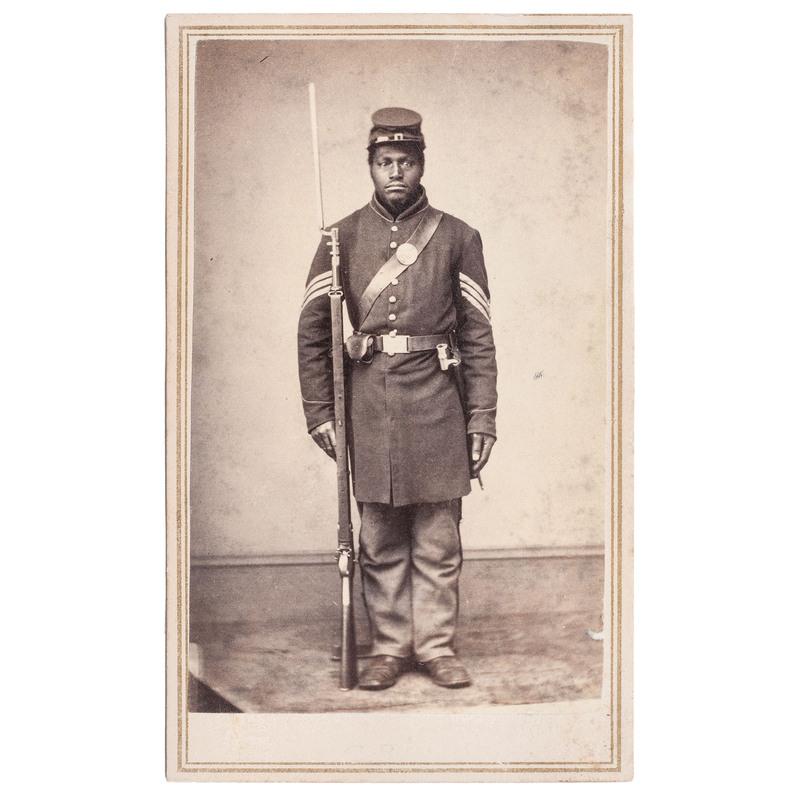 Joseph Taylor, 108th USCT CDV, Rock Island, Illinois, circa 1863