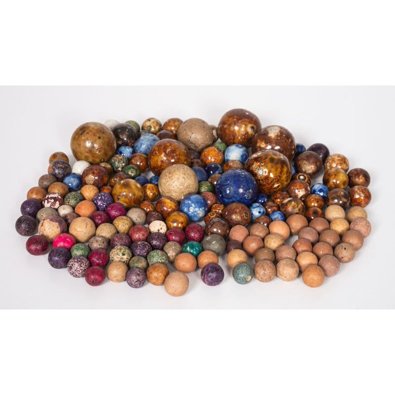 A Collection of Clay Marbles