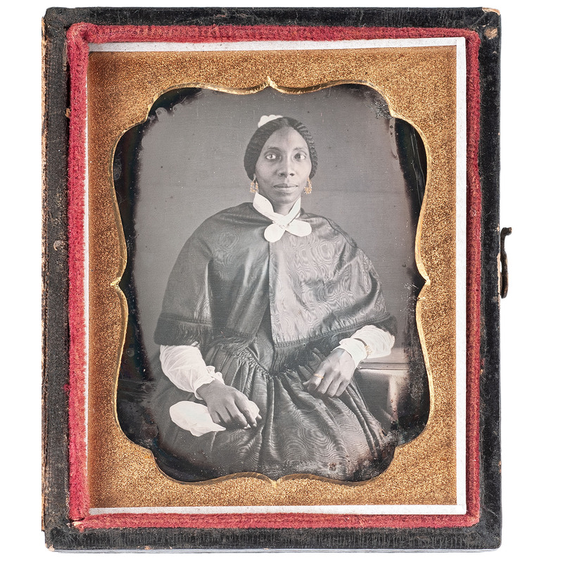 Daguerreotype of an Elegant African American Woman, circa 1850