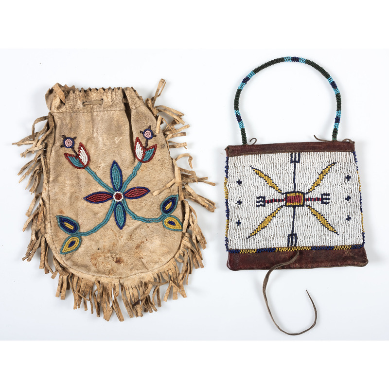 Plains Beaded Hide Bags, From the Collection of Nick and Donna Norman, Colorado
