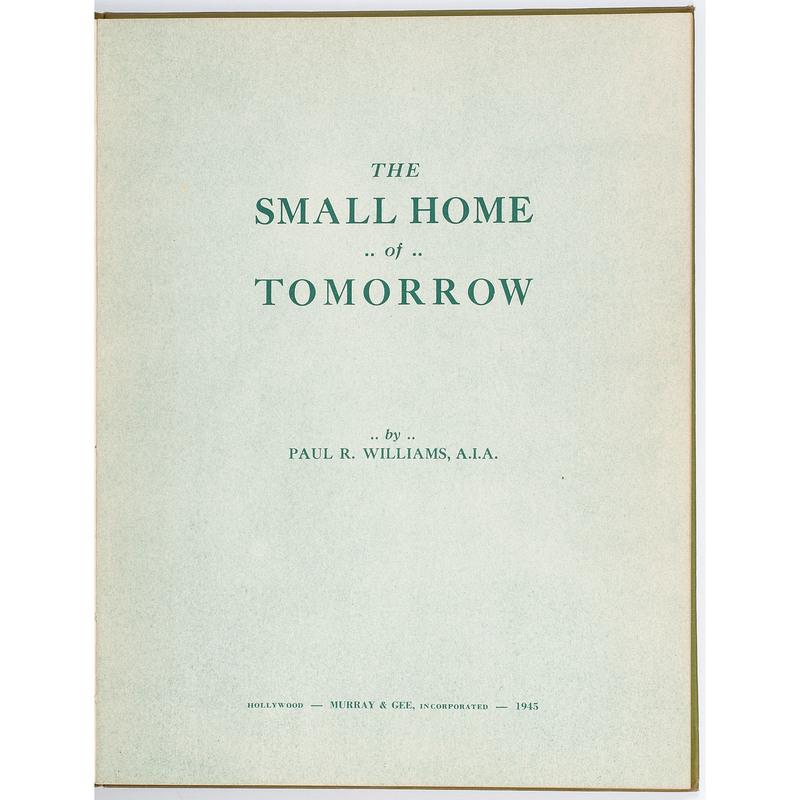 Paul R. Williams Los Angeles Architecture Books, 1945-1946