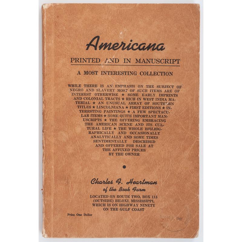 African Americana Bibliography, circa 1947