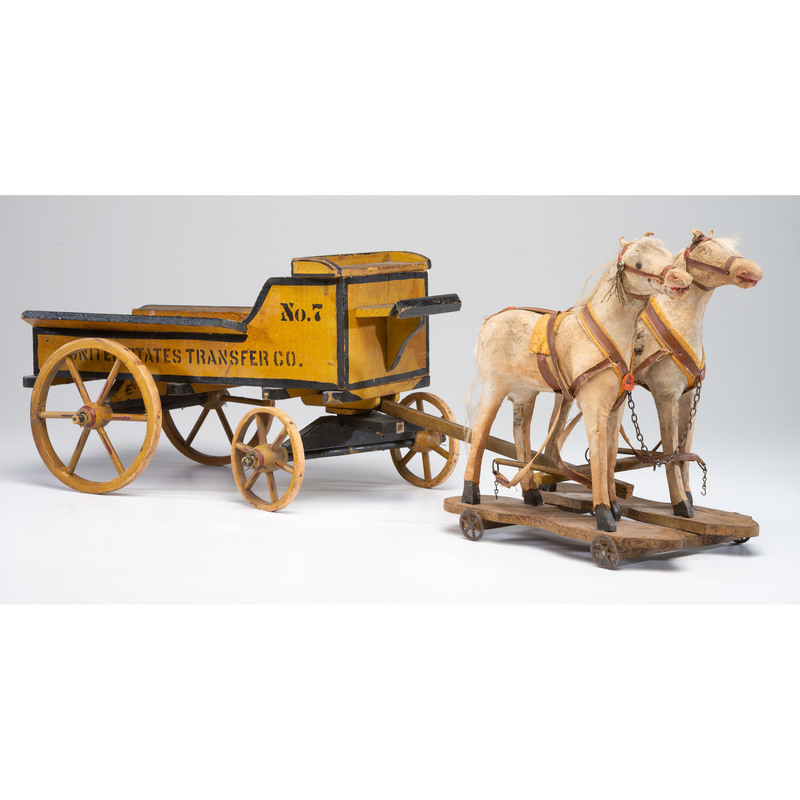 A Painted United States Transfer Co. Wagon Toy