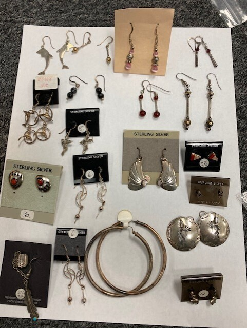 18 Assorted Earring Pairs Plus