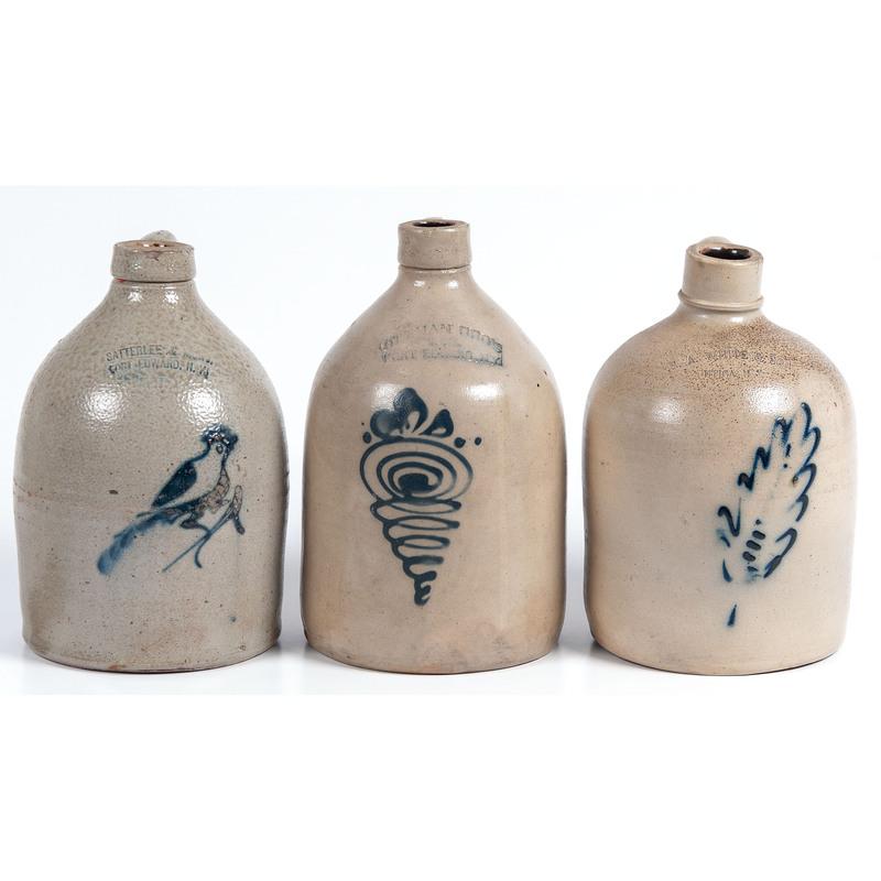 Three New York Stoneware Jugs