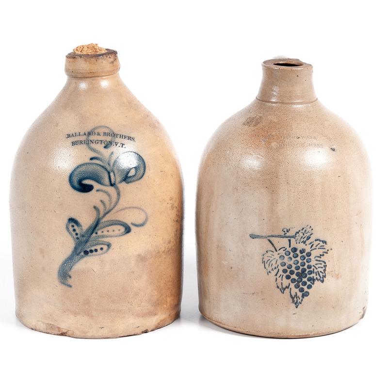 Two Northeastern Stoneware Jugs