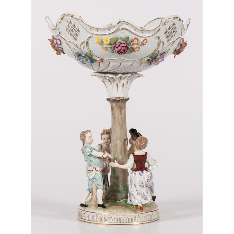 A Carl Thieme Porcelain Compote Centerpiece