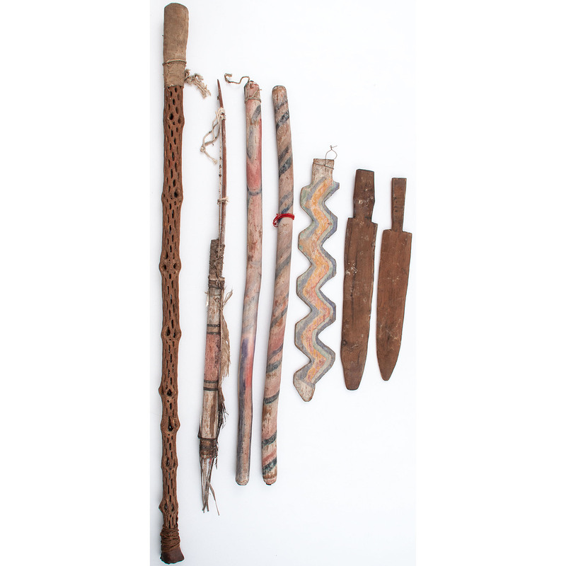 Collection of Pueblo Dance Sticks, From an Estate in Sinking Springs, Ohio