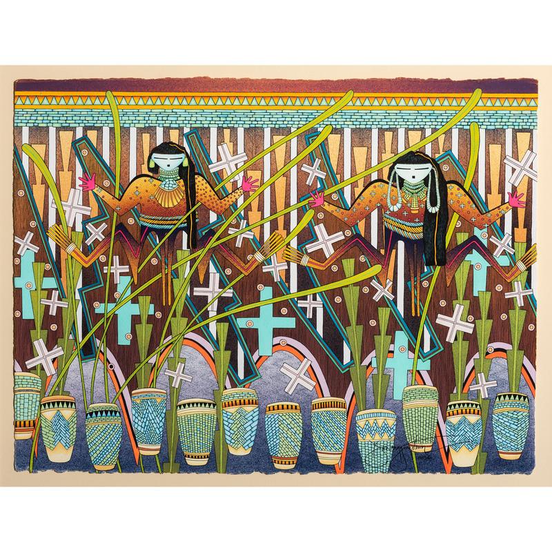 David Dawangyumptewa (Hopi, b. 1957) Gouache on Paper