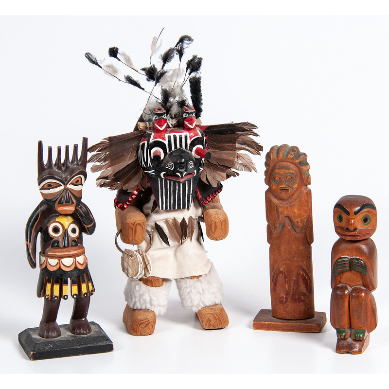 Collection of Northwest Coast Carved Figures