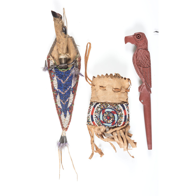 Plains Beaded and Carved Souvenirs
