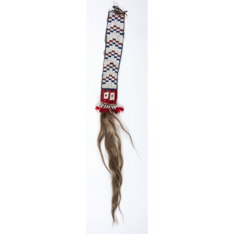 Sioux Beaded Hair Drop, From the Collection of Nick and Donna Norman, Colorado