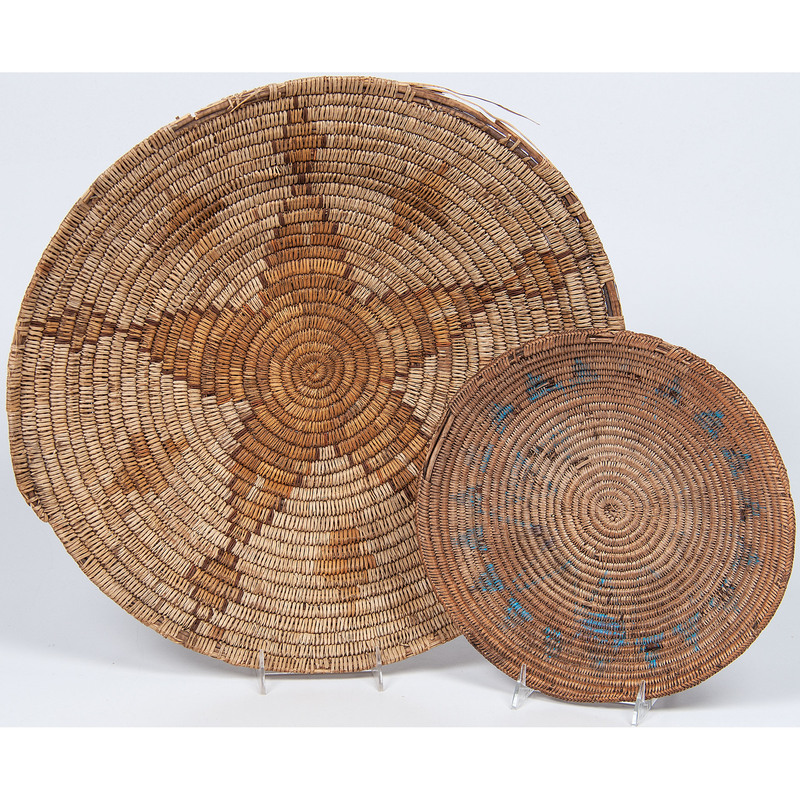 Mescalero Apache and Navajo Baskets