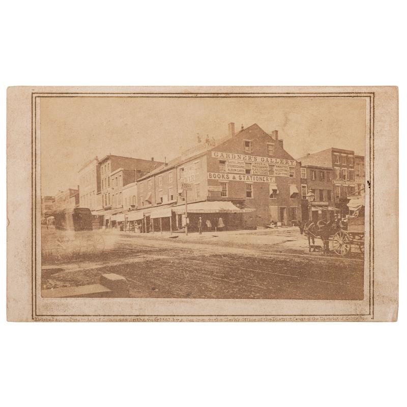 CDV of Gardner's Gallery by Gardner, 1862