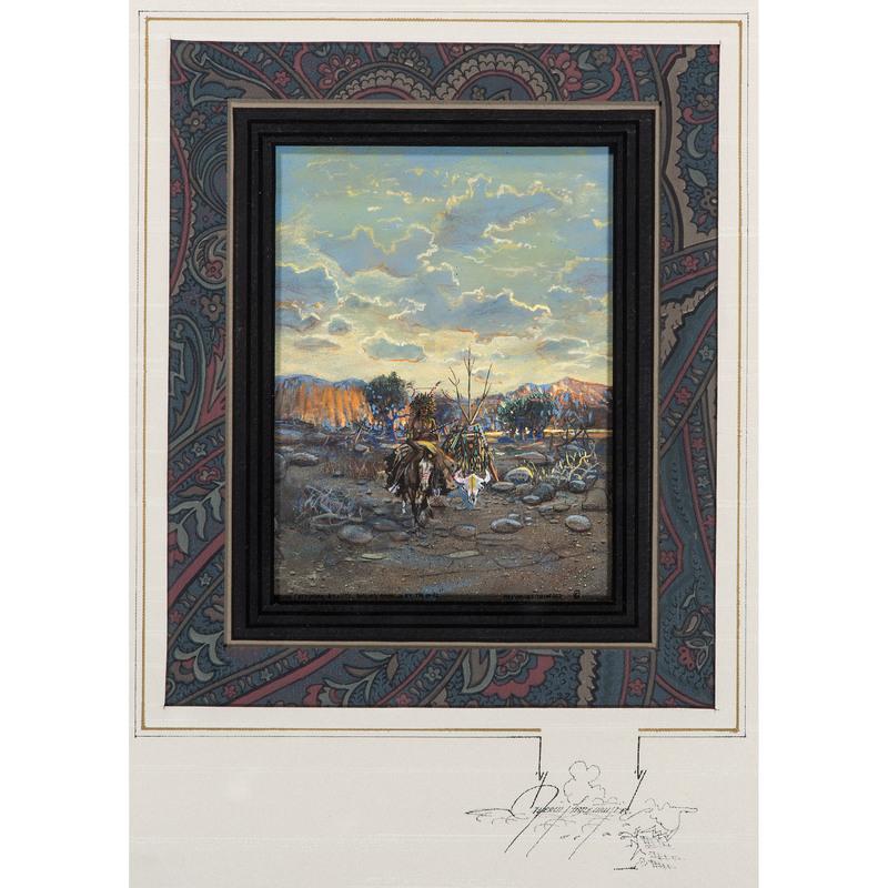 Merlin Little Thunder (Southern Cheyenne, b. 1956) Gouache on Paper