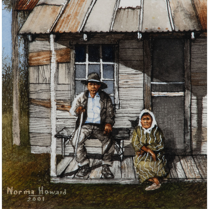 Norma Howard (Choctaw-Chickasaw, 20th century) Gouache on Paper