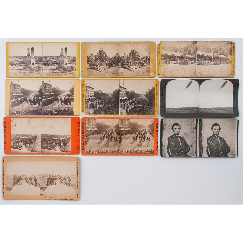 Civil War Stereoviews, Incl. Battlefields, Camp Life, and Four Views of the Grand Review