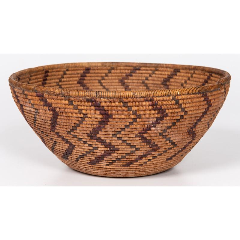 Pomo Polychrome Basket
