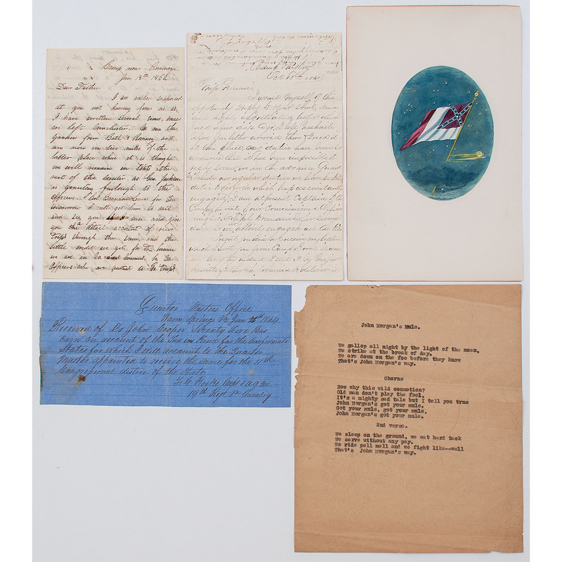 Civil War Confederate Letters and Receipts